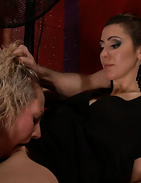 Skylar Price humiliated, bound, double penetrated, strap-on fucked, smacked, spit on, made to squirt for the first time ever, and then covered in cum