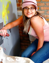 Chick at the gloryhole