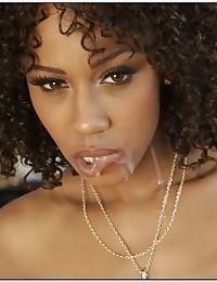Beautiful Ebony Misty Spreads For Cock