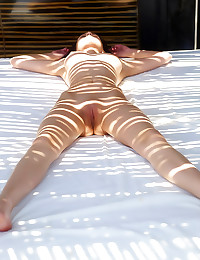 Outdoor skinny body girl teas...