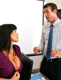 Satin blouse office sex slut