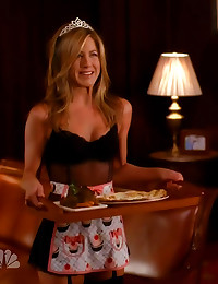 Jennifer Aniston as French maid