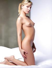 Small tits girl has blonde ha...