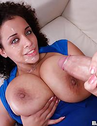 Sexy Minx Uses Her Massive Boobies