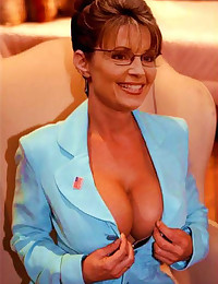 Sarah Palin goes rogue deepthroating and sucking the cum out of cocks in her fake photos