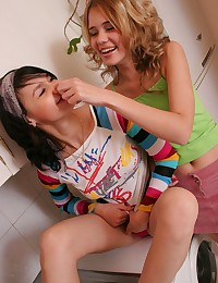 Abigail 18 - Lovely brunette and blonde teens getting naked