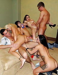 Girls at a party having hardcore sex