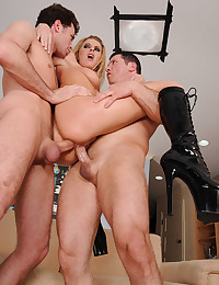 Two Men Enjoy Fucking Riley Evans