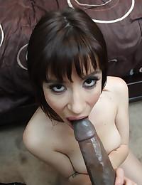 Interracial with huge black cock
