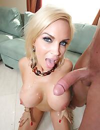 MILF With Great Tits Tastes Cock