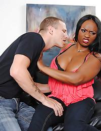 Curvy black girl goes white
