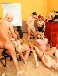 Orgy ends with cumshots