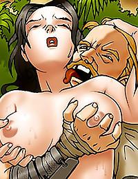 Getting rough in cartoon porn