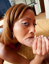 Laying pipe with ebony slut
