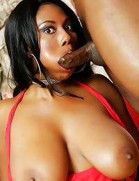 Hot tits black chick facial