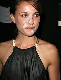 See how sweet Natalie Portman gets fucked and even let some guys to cum on her pretty face!