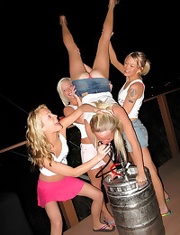 Hot drinking sorority girls