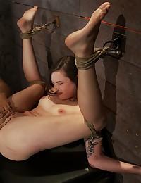Horny bondage slut penetrated