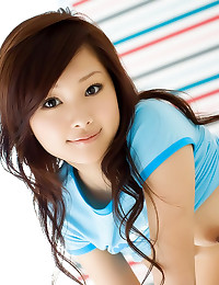 Sweet Asian girl with big eyes
