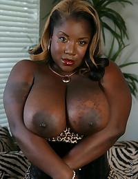 Black latex corset on fatty