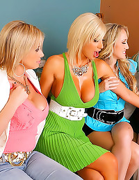 Three big titty blondes group