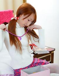 Huge creampie in Asian teen