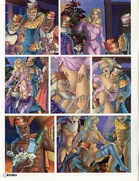 Fantasy turns into porn with adult comics