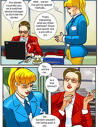 Shemale sex in office comic