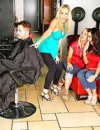 CFNM sex in hair salon