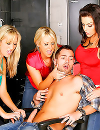 CFNM sex in hair salon