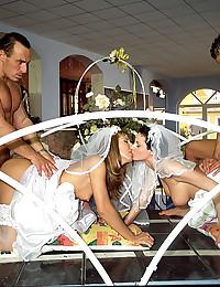 Horny brides love big cocks
