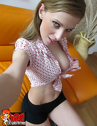 Filthy whore Olga finds her ex bf has uploaded all of her finger fucking pics to get back at her for stealing his credit card