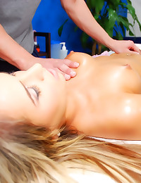Hot body on massage table