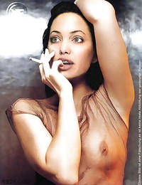 Angelina Jolie gets fucked and splattered with cum
