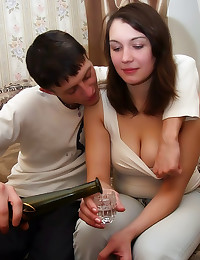 He fucks drunk girlfriend