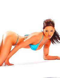 Shiny bikini girl gives hot B...
