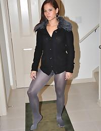 Emily wearing hot pantyhose