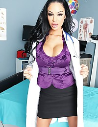 Angelina's patient is going to die, and the medical board has decided to donate his organs away if he doesn't wake up with in the next 24 hours. So Angelina slaps Johnny's face with her tits then rubs her pussy all over him, but no results. So she takes o