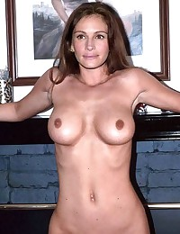 Julia Roberts receives cumload on face after showing off her body