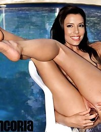 Horny Eva Longoria knows how to have fun alone, with toys or with guys!