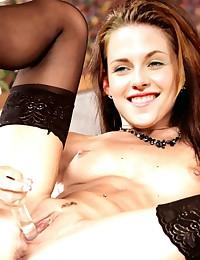 Looks like Kristen Stewart's pussy is always ready to take her fans' cocks!
