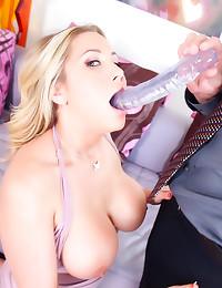 Deepthroat from big titty blo...