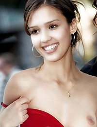 Jessica Alba masturbates in front of the camera