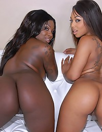 Ebony Babes Enjoy Interracial Threesome
