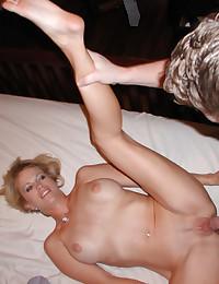 Horny flexible ex showing off her amenities