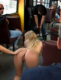 Sub slut fucked on bus
