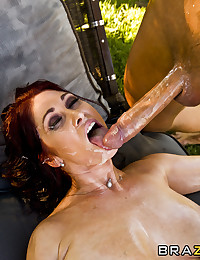 Tiffani is a wild horny cougar with very nice tits and a great butt. She loves riding big cocks in her ass and get her body all oiled up. Keiran give her some serious anal pounding making her cum over and over again.