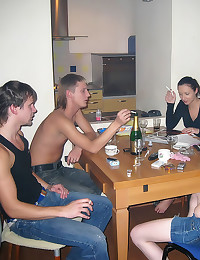 Teen foursome after drinking