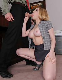 Office romance with blonde