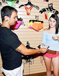 Bikini store girl boned hard